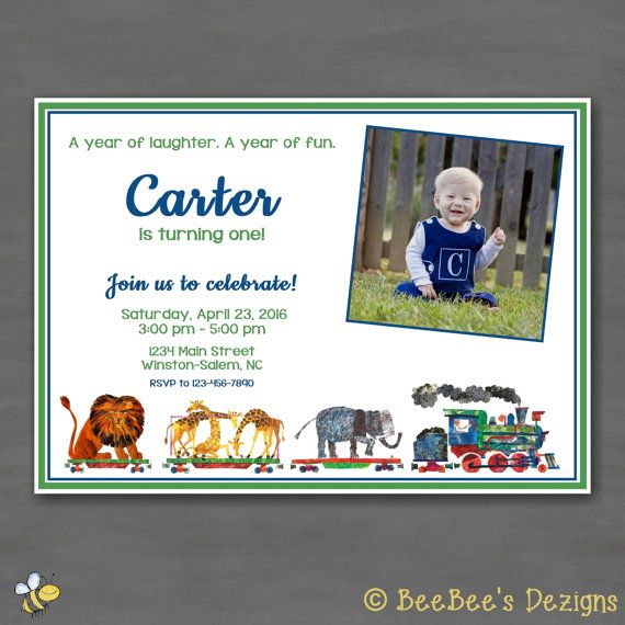 47 best birthday party invitations images on pinterest birthday eric carle 123 to the zoo photo birthday party invitation by beebeesdezigns book theme birthday filmwisefo Choice Image