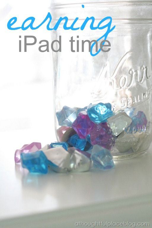 Earning Time on the iPad. Good idea for When he is older