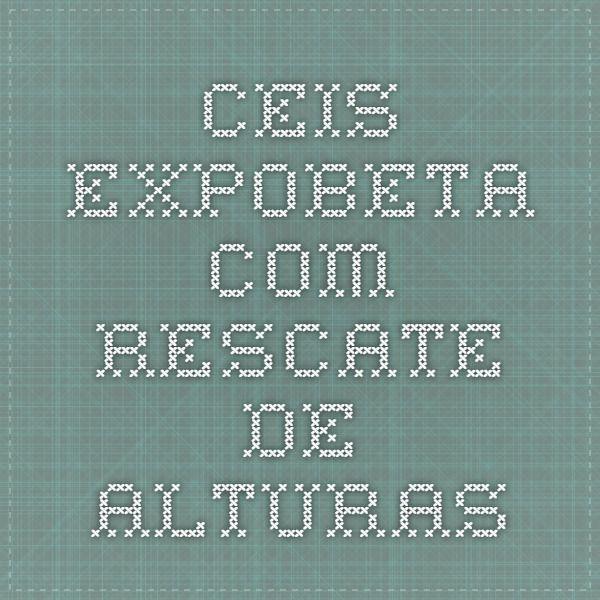 ceis.expobeta.com rescate de alturas