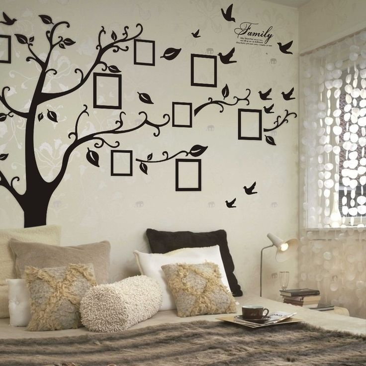 family tree photo frame wall decal