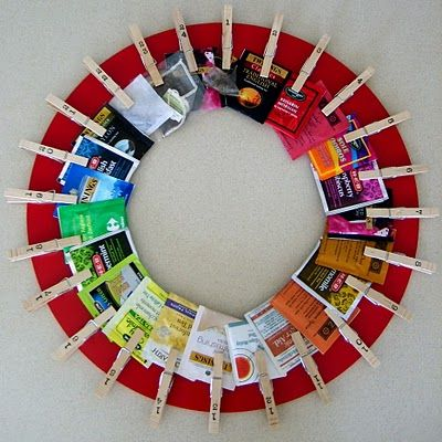 Advent Tea wreath -- great idea ( drink a LOT of tea).  And she has a lot more photos on her site!