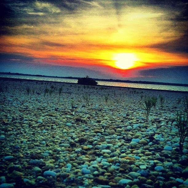 "@emslowatson's photo: ""sunset down the shore """