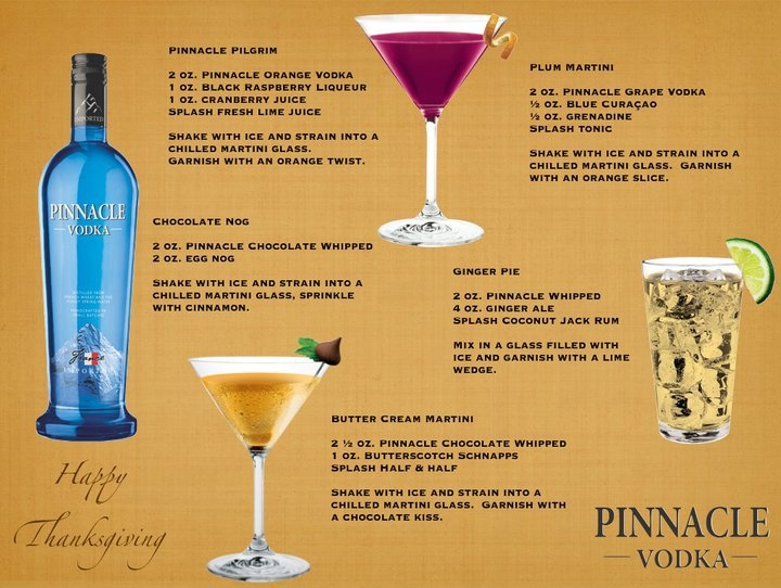 72 best pinnacle vodka client images on pinterest for Thanksgiving holiday drinks alcohol