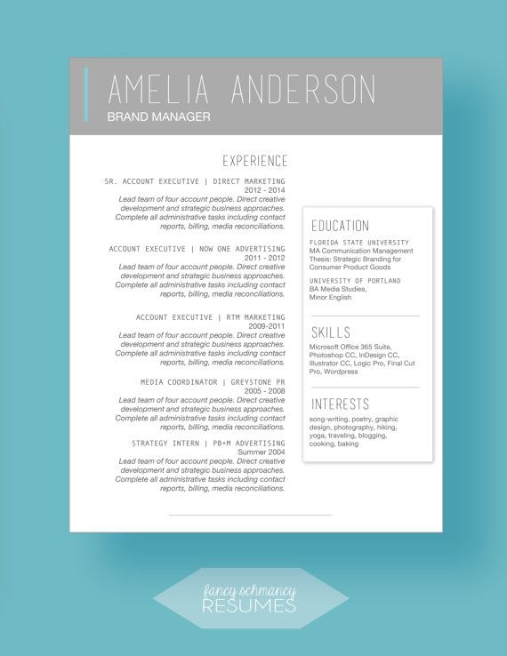 42 best Curriculum Vitae \ Business card images on Pinterest - contacts template word