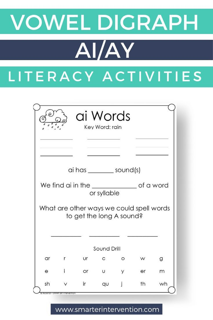 How To Teach Ai Ay Activities In 2020 Spelling Lessons Teaching Spelling Reading Curriculum