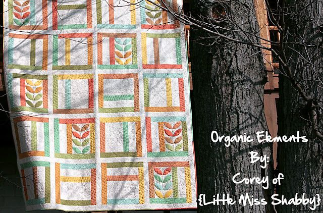 Organics Elements Quilt by Little Miss Shabby on Moda Bake Shop