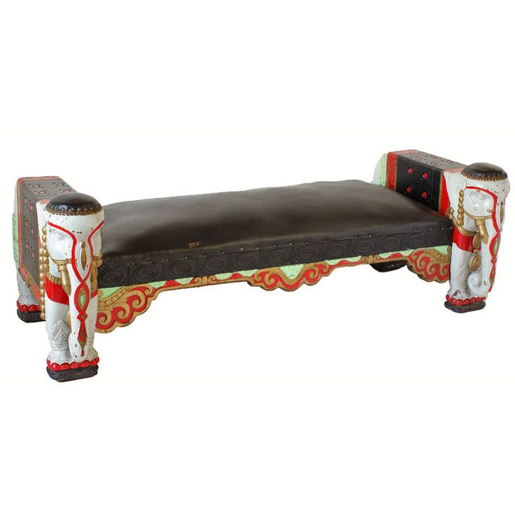 Circa 1906 Chicago Oriental Theater Elephant Bench | From a unique collection of antique and modern benches at http://www.1stdibs.com/furniture/seating/benches/