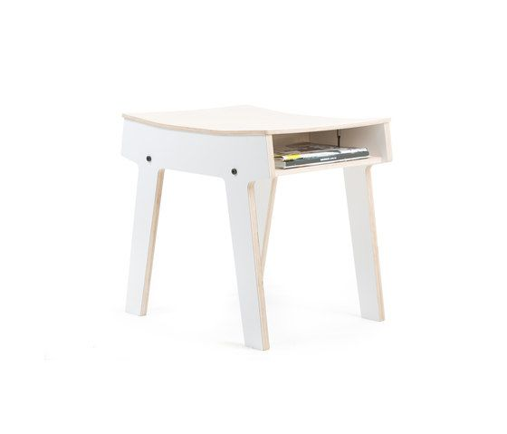 White side table.