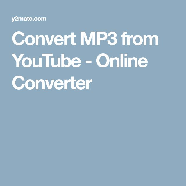 Convert MP3 from YouTube - Online Converter