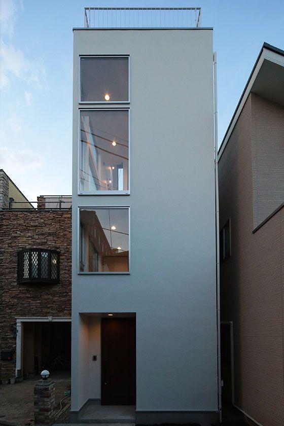 職住一体型、7坪の狭小住宅 オリジナルデザイン住宅 IY邸   建築概要   Boo-Hoo-Woo.com デザイン住宅施工例