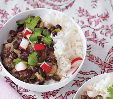Black beans and rice, Cuban black beans and Black beans on Pinterest