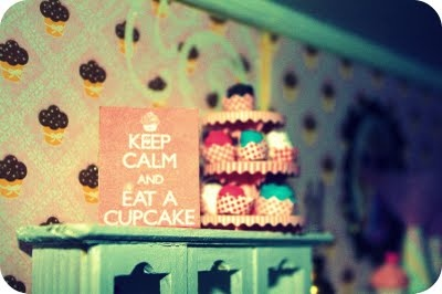 Miniature Cupcakes in Doll House