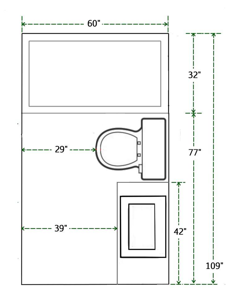 floor plan  measurements  small bathroom add