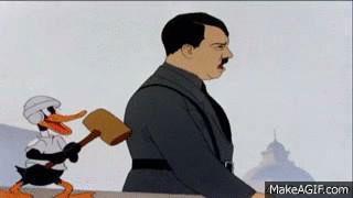 Daffy whacks Hitler. - Imgur