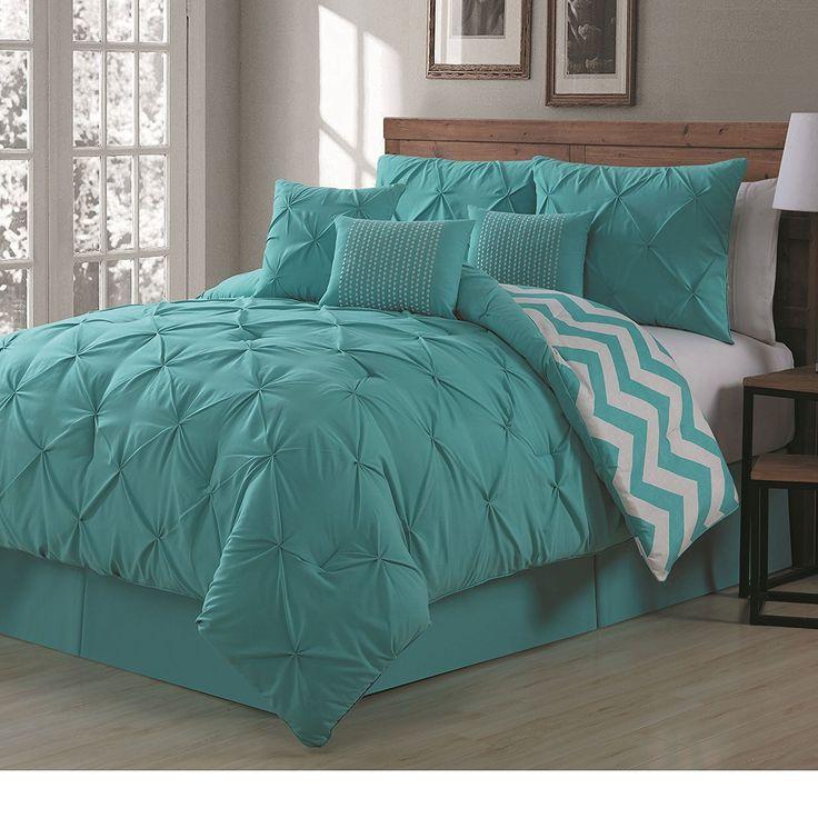 Bronx Blue Bedroom Project: Best 25+ Aqua Comforter Ideas On Pinterest