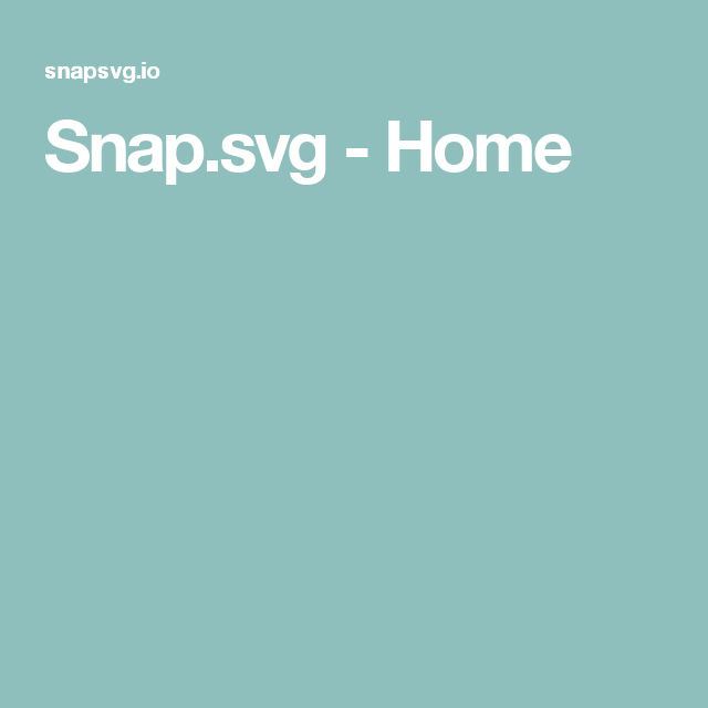 Snap.svg - Home