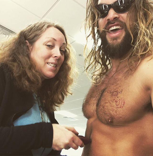 "Pin for Later: It's Somebody's Job to Shave Jason Momoa's Chest Hair For Aquaman, So Now We Might Change Careers ""Damn gonna miss it"""