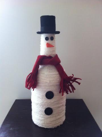 Liquor bottle snowman by JSStringDesigns on Etsy...$30.00