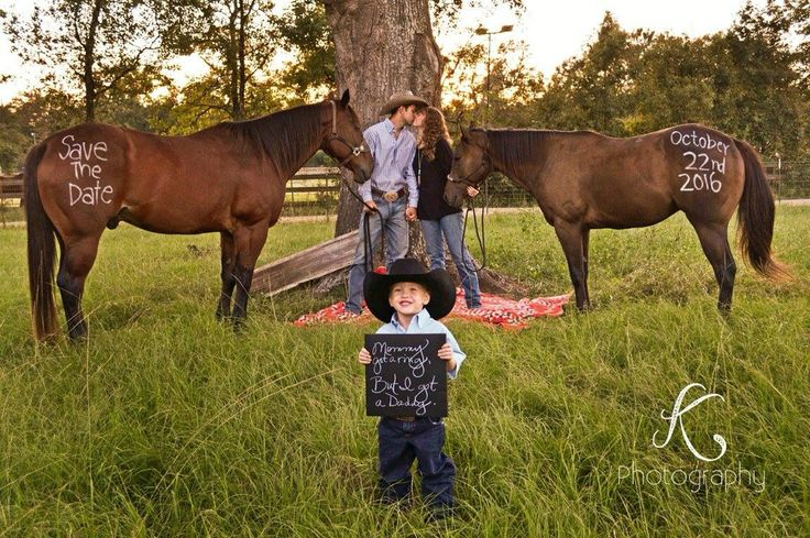 Western rustic engagement picture with my two favorite horses:)
