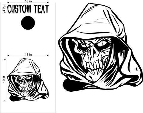 Grim Reaper Skull Skulls Cornhole Board Decals Flag Stickers Graphics Wrap Bag Toss Bean Baggo SK29
