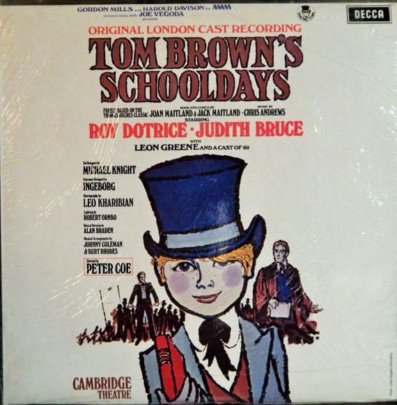 "Tom Brown's Schooldays  12"" Vinyl Lp Mint Original London Cast British Import (1972 music Chris Andrews) Roy Dotrice, Judith Bruce,L Greene"