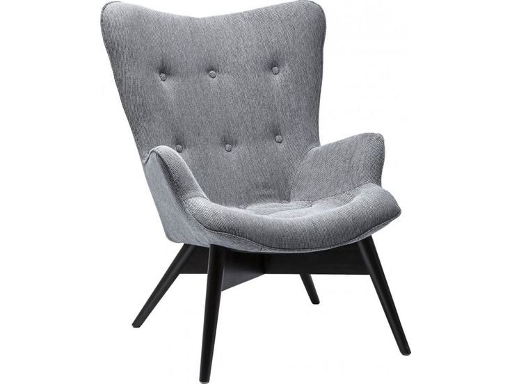 Fotel Angels Wings Eco szary tkanina — Fotele Kare Design — sfmeble.pl
