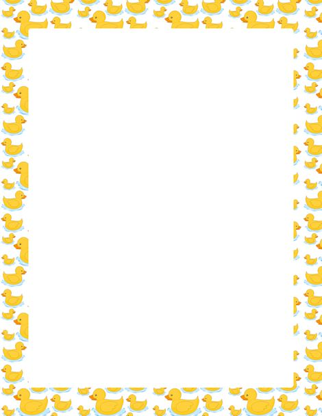 A page border featuring cute cartoon ducks. Free downloads ...