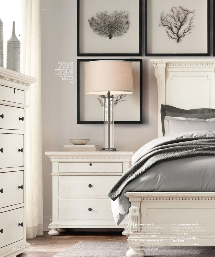 white dresser with black knobs