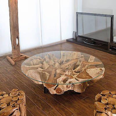 Skulpturale Lampe Couchtisch Aus Holz Contour
