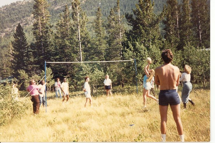 Librarians just wanna have fun!!! Carol Olsen, cecil Darden, Carole Hirshfield, Charles Bandy, Jo dell, Deb Silva and Kathei Protz. Librarians from the 9th Ave Campus in a friendly volley ball game. #CUHSLibrary