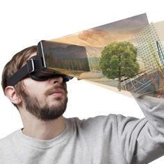 Virtual Reality: a realistic and immersive simulation of a three-dimensional environment, created using interactive software and hardware, and experienced or controlled by movement of the body.