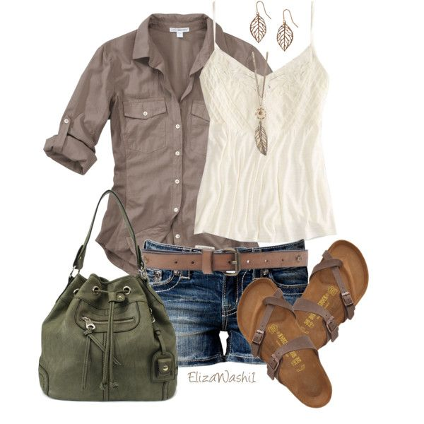 James Perse blouses, American Eagle Outfitters tops and Miss Me shorts.