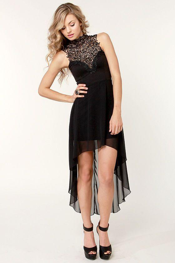 Enchants Encounter Black Lace Dress