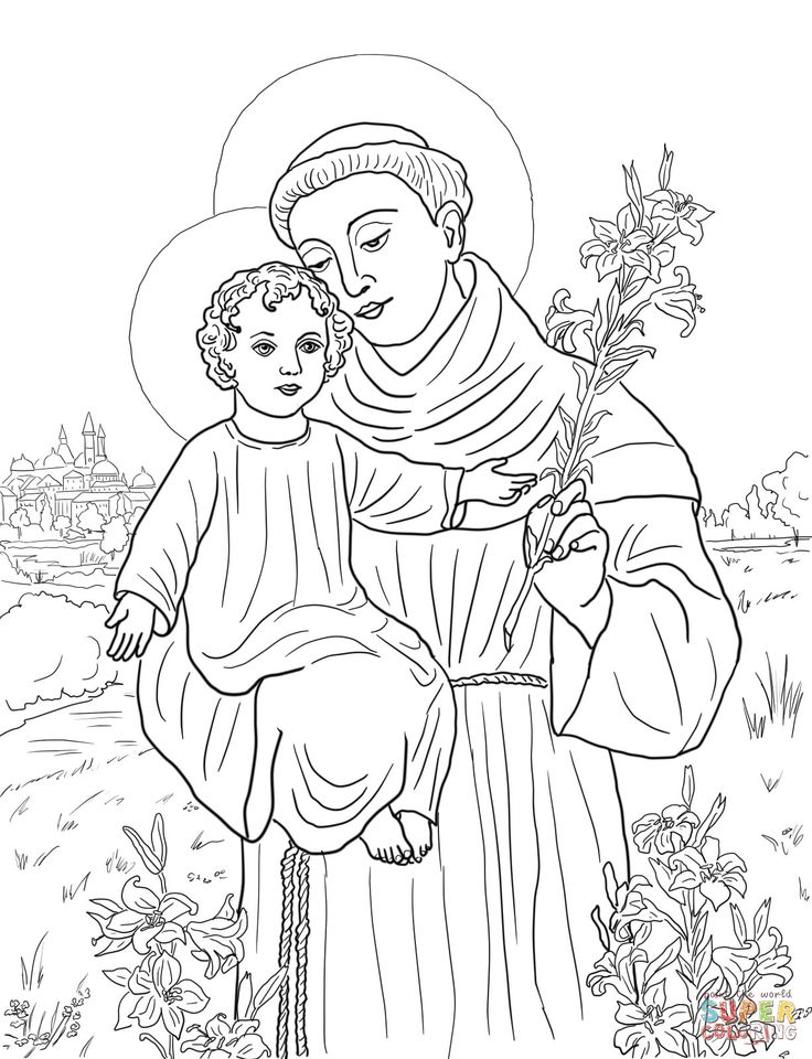 St. Anthony of Padua | Super Coloring