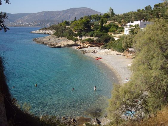 If you visit Athens the famous area of Porto Rafti is famous, Erotospilia beach, have a dip!