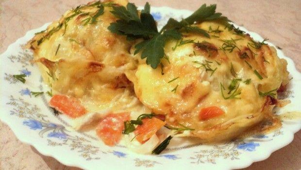 Кулинарные рецепты: Готовим в духовке. Филе минтая, запеченное с картофелем