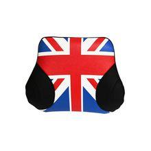 Car styling universale inghilterra bandiera disegno lombare supporto della vita ammortizzatore posteriore cuscino copertura di sede dell'unità di forniture di protezione di sicurezza(China (Mainland))