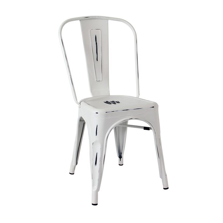 Antique Tolix chair in white Suitable for indoor only Matte finish