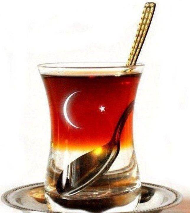 Turkish flag ☪ Turkish tea