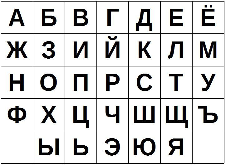 Алфавит с картинками печать