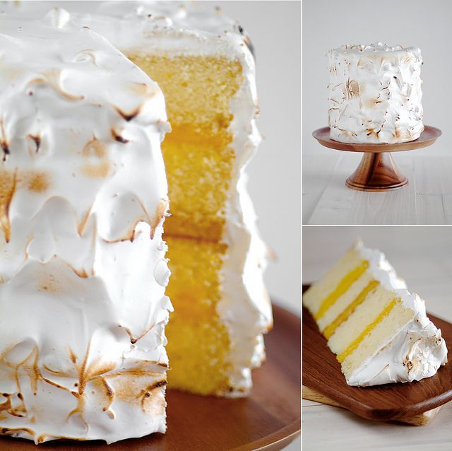 lemon layer cake with 7 minute frosting