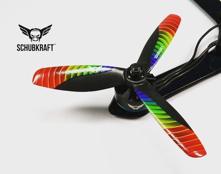 Now available: SCHUBKRAFT LE 5045x3 V2 | RAINBOW   Follow  Tag @schubkraft_fpv #fpv #fpvracing #quadlife #quad #racing #dronechampionsleague #kiss #quaddiction #dronesque #airvuz #multirotor #multigp #blheli #esc #multishot #drone #schubkraft #flyingfolk #droneracing #2207 #2205 #2206 #2400kv #2500kv #blhelis  #drones #bb21 #dcl #helix #dshot - http://ift.tt/2euDRWt