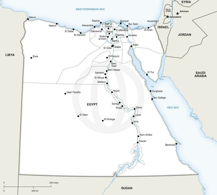 Best Digital Vector Maps Images On Pinterest Vector Format - Map of egypt vector
