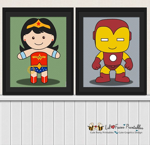 Baby Superhero Digital Art Prints Nursery Decor - Printable Poster
