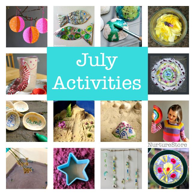 July activity plans, summer bucket list ideas, things to do with kids in July, seasonal activity calendar and summer screen free play ideas