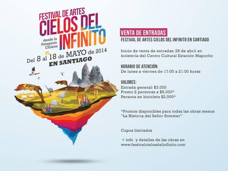 NUEVA EXTENSIÓN EN SANTIAGO DE FESTIVAL DE ARTES CIELOS DEL INFINITO