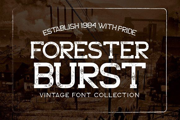 Forester Typeface by Font & Graphic Land on @creativemarket