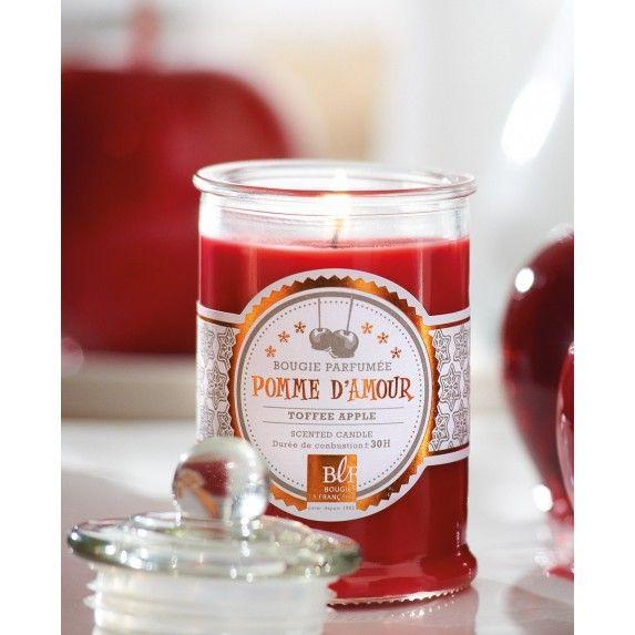 Bougie parfumée bonbonnière 30h pomme d'amour