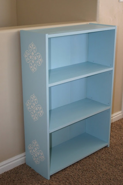 Moody girl projects painting laminate furniture cheapo for Funky shelving ideas