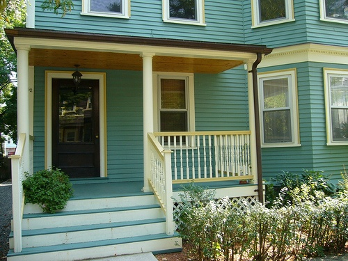 Aqua Green With Yellow Trim House Colors Pinterest